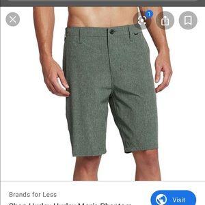 "Hurley Men's 30 Frayed Gray ""Phantom"" Shorts"